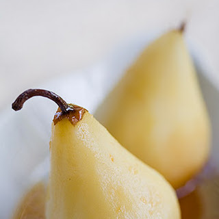 Marsala Poached Pears