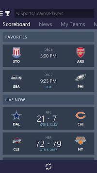MSN Sports - Scores & Schedule APK screenshot thumbnail 1