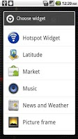 Screenshot of Hotspot Widget
