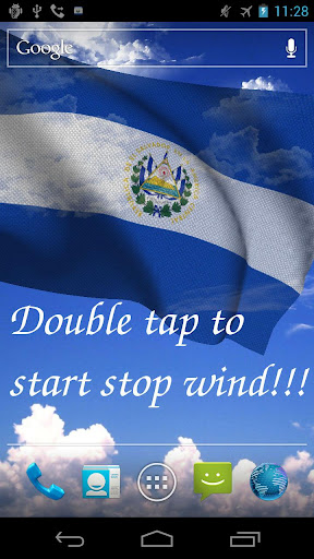 3D El Salvador Flag +