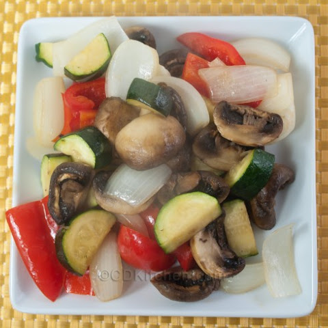 Roasted Mushrooms And Mixed Vegetables