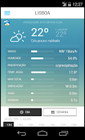 Screenshot of Meteo@IPMA