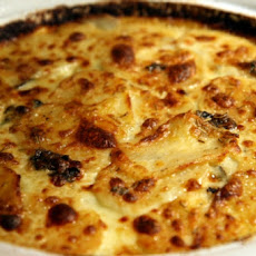 Potato Gratin with White Cheddar Cheese