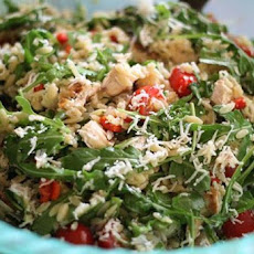 Quick Greek Spinach and Chicken Orzo
