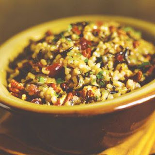 Wild Rice Pilaf with Dried Cranberries and Pecans