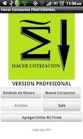 Screenshot of Cotizacion PROFESIONAL