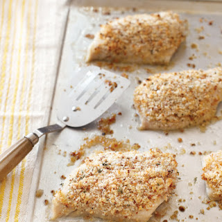 Black Cod with Lemon & Thyme Bread Crumbs