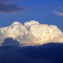 Majestic Clouds by Melanie Goins - Landscapes Cloud Formations ( clouds, sky, blue, sunny, white,  )