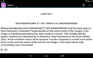 Screenshot of The Gospel of Ramakrishna
