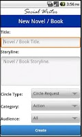 Screenshot of Write books with your friends