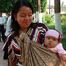 Mayan Baby and Mom by Sherri Reyna - Babies & Children Babies ( babies, family, mexico, children, indian, travel, maya, people, portrait, mom )