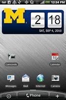 Screenshot of Michigan Wolverines Clock