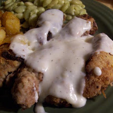Chicken-Fried Steak Strips With Milk Gravy