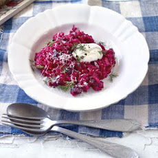 Creamy Beetroot Risotto