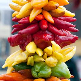 Fresh Peppers by Robert Briggs - Food & Drink Ingredients ( farmers market, fresh peppers, seattle, ingredient, pike place market )