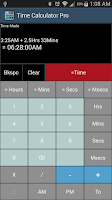 Screenshot of Time Calculator Pro