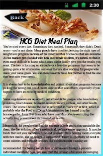 HCG Diet Meal Plan - screenshot
