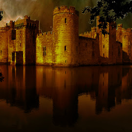 BODIAM CASTLE by Guilherme  Junior - Buildings & Architecture Public & Historical ( nature, sunset, public place, landscapes )