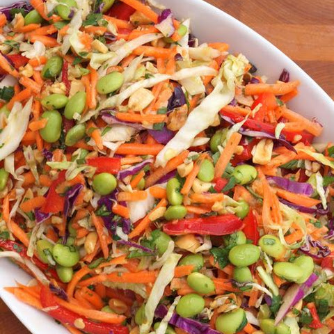 Asian Slaw with Ginger-Peanut Dressing