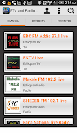 Screenshot of ETv and Radio Access,Ethiopian