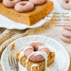 Cinnamon-Sugar Mini Donut-Topped Snickerdoodle Cake