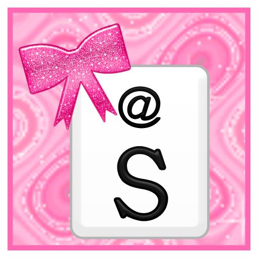 KB SKIN - Pink Glitter Bows 個人化 App LOGO-硬是要APP