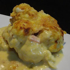 Baked Cauliflower & Cheese With Bacon