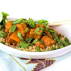 Kabocha Squash Red Curry with Brown Rice