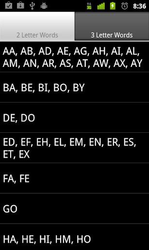 Scrabble Short Words