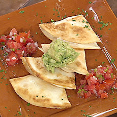 Fiesta Quesadillas with Simple Salsa and Holy Guacamole