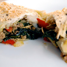 Savory Pesto, Sausage & Spinach Turnovers