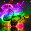Colored Butterfly On Water Liv icon