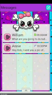 PunkPrincess/GO SMS THEME - screenshot