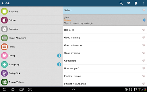 Learn Arabic Pro - screenshot