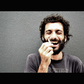 A good laugh by Marc Steiner - People Portraits of Men (  )