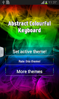 Screenshot of Abstract Colourful Keyboard