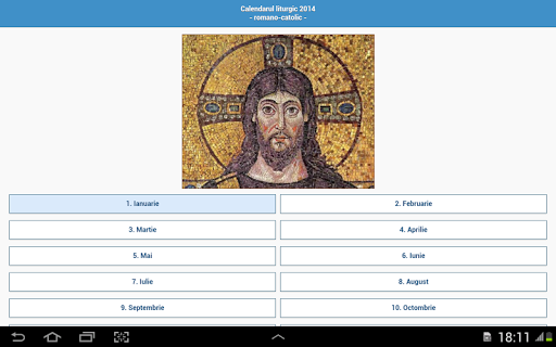 calendar-romano-catolic-2014 for android screenshot