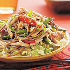 Asian Chicken, Noodle, and Snap Pea Salad