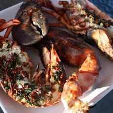 Grilled Lobsters With Italian-Style Stuffing