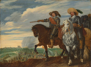 RIJKS: Pauwels van Hillegaert: Frederick Henry and Ernst Casimir of Nassau-Dietz at the Siege of 's Hertogenbosch 1635
