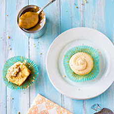 Dulce de Leche Cupcakes with Dulce de Leche Swiss Meringue Buttercream