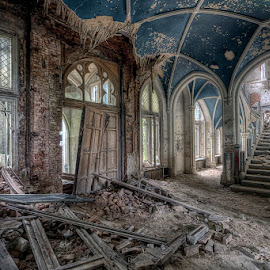 Trashed by Martin Brown - Buildings & Architecture Decaying & Abandoned ( canon, europe, hdr, ue, 2014, ef-s 10-20mm, belgium, miranda, 450d, broken, urbex, trashed, grand, noisy, d-kay, derelict, d-kay2009, chateau, decay, abandoned )