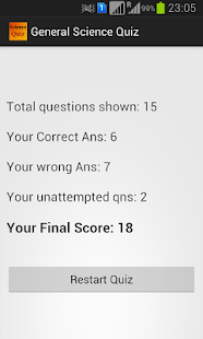 General Science Quiz - screenshot