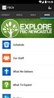Screenshot of First Baptist Church Newcastle