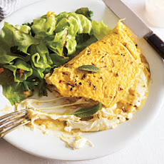 Mozzarella Omelet with Sage and Red Chile Flakes
