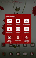 Screenshot of A Flower Atom theme