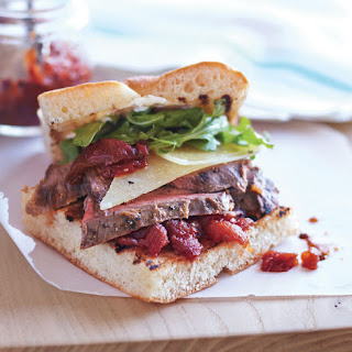 Flank Steak Sandwiches with Tomato Chutney