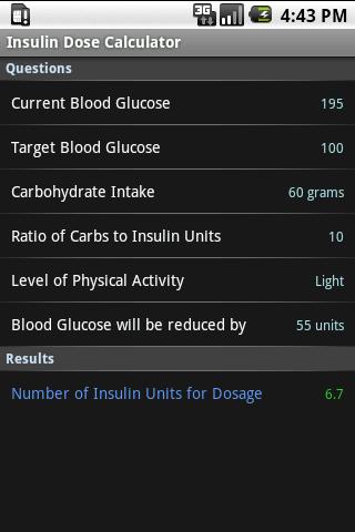 Insulin Dose Calculator