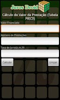 Screenshot of Calculadora Juros Droid