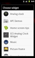 Screenshot of ICS Analog Clock Widget